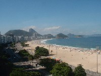 Rio rent Flat in Copacabana with view to the Sugar Loaf