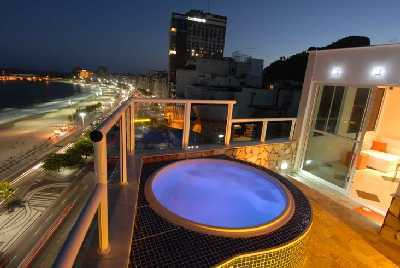 Rio rent Penthouse with private Pool in Copacabana: Penthouse front Copacabana beach with stunning view